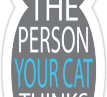 THE PERSON YOUR CAT THINKS YOU ARE Sticker