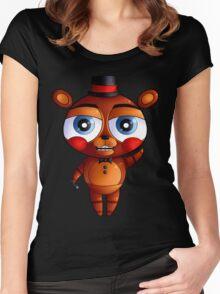 FNaF 2 - Chibi Toy Freddy Fazbear Women's Fitted Scoop T-Shirt