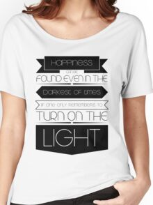 Happiness (Black) Women's Relaxed Fit T-Shirt