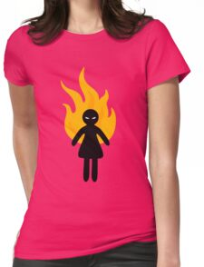 Beware of The Angry Girl Womens Fitted T-Shirt