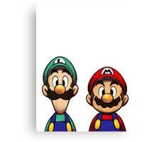 Mario & Luigi Canvas Print