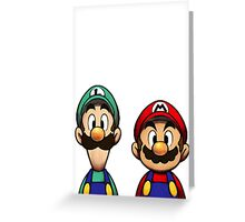 Mario & Luigi Greeting Card