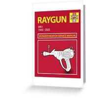 Ray gun Haynes Manual Greeting Card