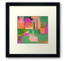 Green Sailing Framed Print