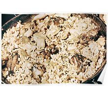 Traditional Valencian Paella With Rice And Chicken Poster