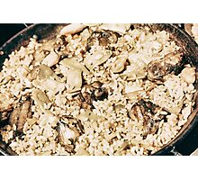 Traditional Valencian Paella With Rice And Chicken Photographic Print