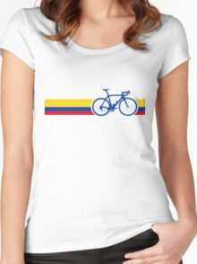 Bike Stripes Colombia National Road Race Women's Fitted Scoop T-Shirt