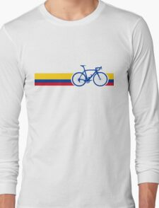 Bike Stripes Colombia National Road Race Long Sleeve T-Shirt