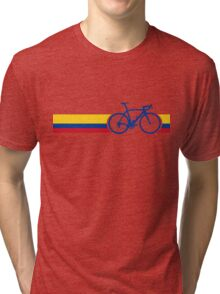 Bike Stripes Colombia National Road Race Tri-blend T-Shirt