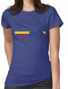 Bike Stripes Colombia National Road Race Womens Fitted T-Shirt