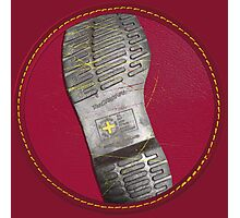 Dr. Martens Boot Sole Oxblood Photographic Print