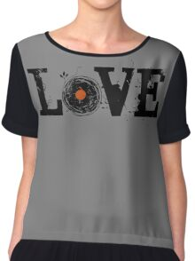 Love Vinyl Records Chiffon Top