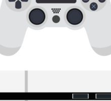 This Is For The Players - PS4 Console & Controller White Sticker