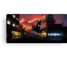 The City, she loves me. Canvas Print