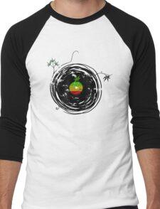 Reggae Music - Vinyl Records Cannabis Leaf - DJ inspired design Men's Baseball ¾ T-Shirt