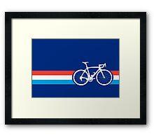 Bike Stripes Luxembourg Framed Print