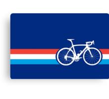 Bike Stripes Luxembourg Canvas Print