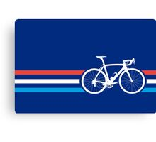 Bike Stripes Luxembourg v2 Canvas Print