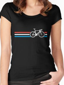 Bike Stripes Luxembourg v2 Women's Fitted Scoop T-Shirt