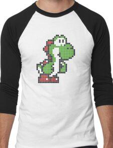 Pixel Yoshi Men's Baseball ¾ T-Shirt