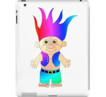 Funky 80's/90's Troll Doll inspired design iPad Case/Skin