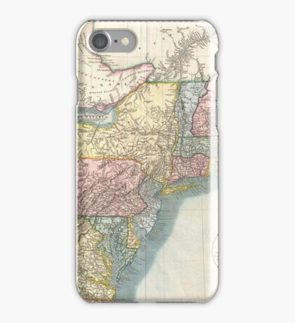 Vintage Map of New England (1821)  iPhone Case/Skin