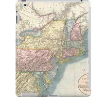Vintage Map of New England (1821)  iPad Case/Skin