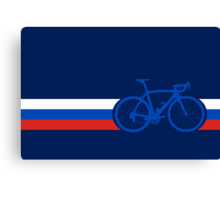 Bike Stripes Russia Canvas Print