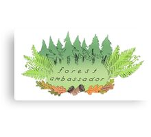 FOREST AMBASSADOR - LEAFY FRIEND Canvas Print
