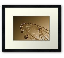 Giant Ferris Wheel In Fun Park On Night Sky Framed Print