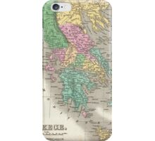 Vintage Map of Greece (1827) iPhone Case/Skin