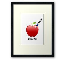 apple pen Framed Print