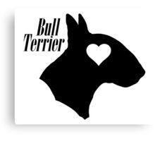 Bull Terrier <3 Canvas Print