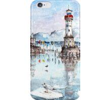 Lindau Harbour On Lake Constance iPhone Case/Skin