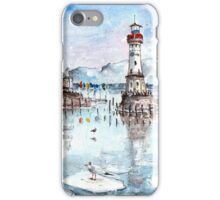 Lindau Harbour On Lake Constance iPhone Case/Skin
