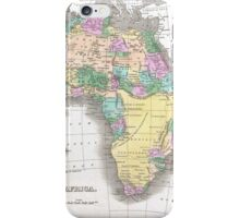 Vintage Map of Africa (1827)  iPhone Case/Skin