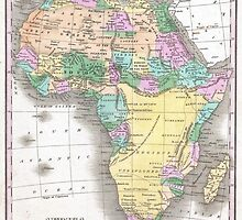 Vintage Map of Africa (1827)  by BravuraMedia