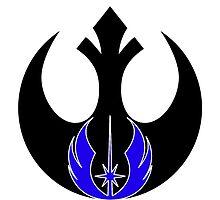 rebel & jedi logo fusion by thehellsnipe