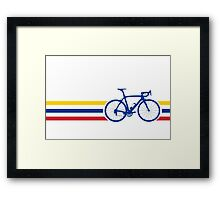 Bike Stripes Colombia v2 Framed Print