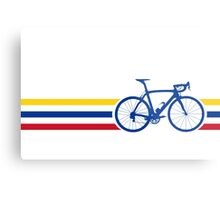 Bike Stripes Colombia v2 Metal Print