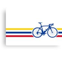 Bike Stripes Colombia v2 Canvas Print