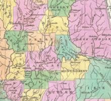 Vintage Map of Alabama (1827) Sticker