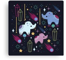 Elephants in Space  Canvas Print