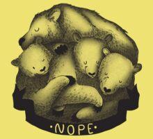 Nope (Yellow) Kids Tee