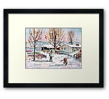 A Man And His Dog On Lake Constance Framed Print