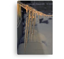 Icicles at Sunset Metal Print