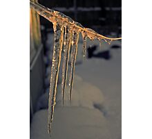 Icicles at Sunset Photographic Print