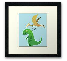 Jurassic Friends Framed Print