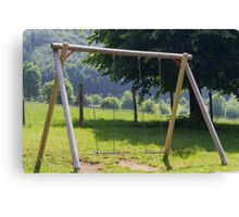 swing on the lawn Canvas Print