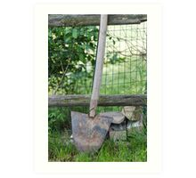 spade on the farm Art Print